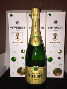 Taittinger Brut Special World Cup Soccer Brasil Limited Champagne - 3 bottles in boxes
