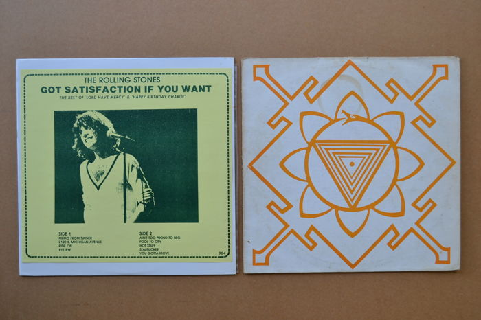 "2 rare unofficial albums  ""Got Satisfaction if you want""  &  ""Berkeley Concert"""