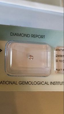 Natural diamond – fancy pink –  0.10 ct – no treatments – brilliant cut – excellent VS1 – high value with *** low reserve price ***