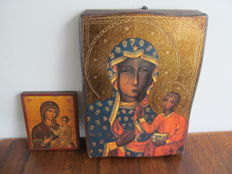 2 Russian icons on wood - Russia - second half 20th century.