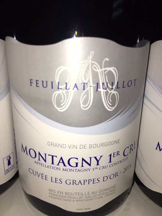 2014 Montagny 1er Cru Feuillat Juillot Cuvee les Grappes D'OR (white) x 6 bottles in OWC