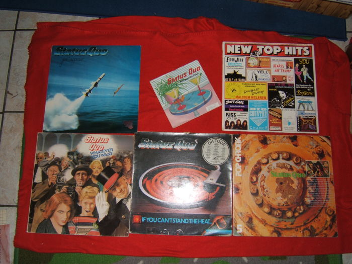 Status Quo collection -7 LP Albums and  2 styx LP Albums + 1 rock and roll greats compulation