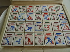 Moscow 1980 Olympic Games matches collection boxes