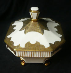 Koenigszelt - porcelain: Large 8-sided box of chocolates/Terrine - ART DECO