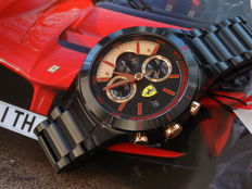 SCUDERIA FERRARI REDREV BLACK EVO CHRONOGRAPH men watch