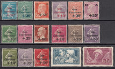 France 1927/1931 – Amortization boxes – Yvert No. 246/248, 249/251, 252, 253/255, 256, 266/268, 269, 275/277