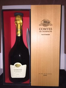 2000 Taittinger Comtes de Champagne Blanc de Blancs Brut, Champagne - 1 bottle (75cl) in box