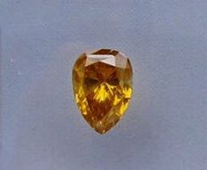 0.91 ct Natural Fancy Deep Orange-Brown, Pear cut diamond with  GIA certificate