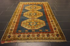 Collector's item, beautiful, hand-knotted oriental carpet, Kazak, Turkey, old rug, 130 x 190 cm