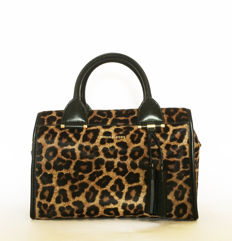 Michael Kors - leo-printed pony-hair large Satchel 'Geneva'