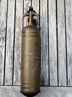 Desmo Fire extinguisher - from an old bus - 1962 - 350 mm high - diameter 80 mm