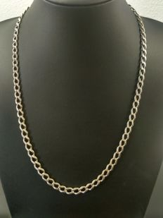 Silver necklace 925k, length 58 cm, width 1 mm, weight 33 grams