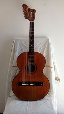 Old and vintage Umberto Dall'osso 11 strings Italian guitar