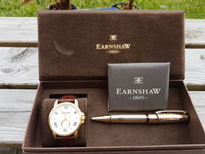 Thomas Earnshaw Fitzroy Automatic – Men's watch – 2017 – Including a luxurious ballpoint pen.