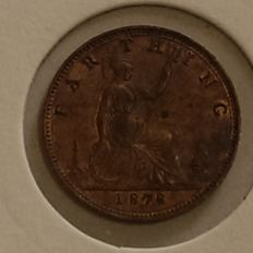 United Kingdom - Farthing 1878 'Bun Head' Victoria - bronze
