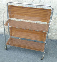 Unknown designer – Folding Formica and chromed steel serving trolley