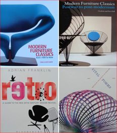 Literature - lot with 4 Books on 20th Century Design (in mint condition)