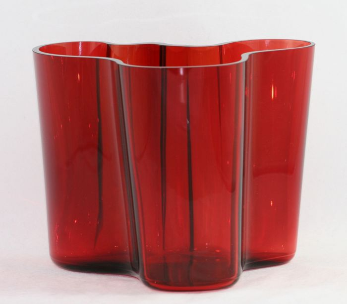 iittala alvar aalto vase red 160 mm catawiki. Black Bedroom Furniture Sets. Home Design Ideas