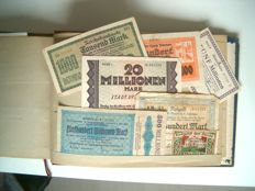 Germany - Album with 432 emergency money notes (emergency currency) 1914-1924