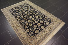 Magnificent handwoven Oriental carpet Indo Nain 120 x 180 cm made in India in top condition