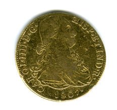Spain – Carlos IV – 8 gold escudos coin, 1807, Lima