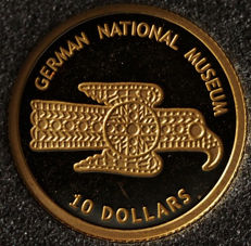 Nauru, 10 dollars 2005: German National Museum.
