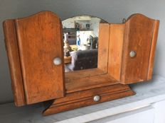 Oak mirror cabinet - France - ca. 1920