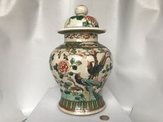 Famille verte lidded vase – China – Circa  1880