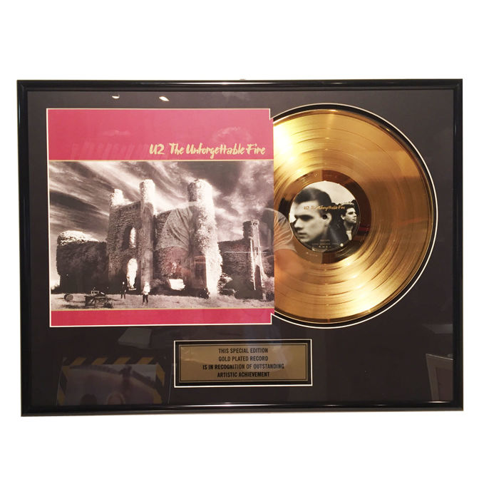 U2 - Unforgettable Fire - Commemorative 24 K Gold plated Record