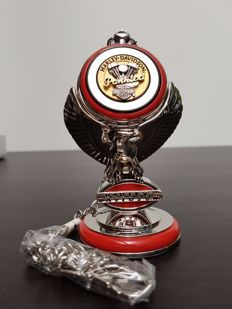 "Harley Davidson ""Panhead"" collector's pocket watch on a stand - Franklin Mint - ca. 2000"