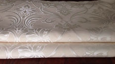 Louis XVI style beige damask fabric 5.50 metres, Italy, second half of the 20th century