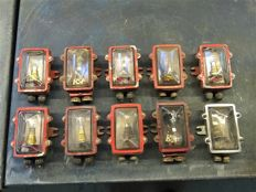 Lot of 10 rare vintage Navy Ajmera Deck lights.
