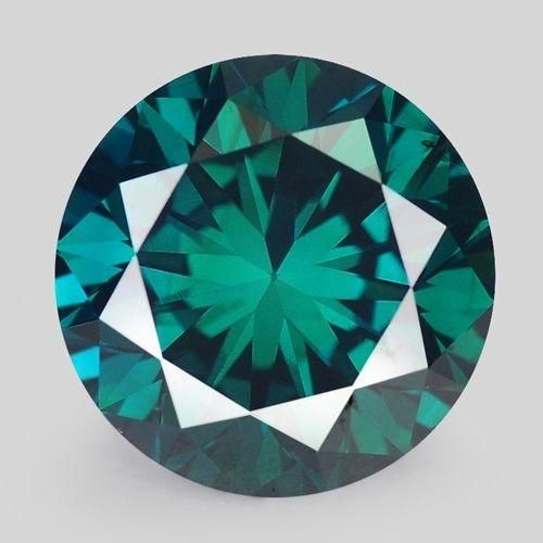 Greenish Blue Diamond - 0.60ct - I2