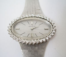 Genève - white gold women's  watch, set with thirty-six brilliants.