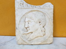 Marble bas-relief depicting a mythological figure - 19th century