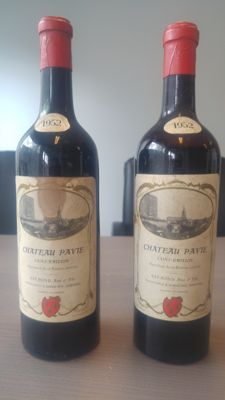 1952 Chateau Pavie, Saint-Emilion (1er Grand Cru Classé) - 2 bottles