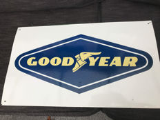 Beautiful old enamel Goodyear advertising sign - 2nd half of the 20th century