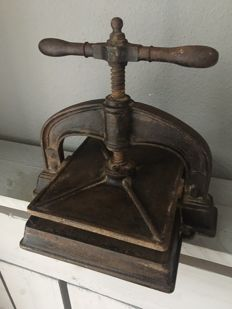 Authentic French book press, 1920s