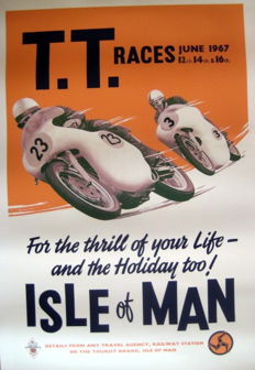 Nostalgic Poster - T.T. Races June 1967 - Isle of Man