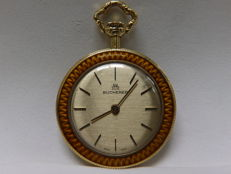 Bucherer. (Carl F. Bucherer) pendant watch, lepine and remontoir. Circa 1945.