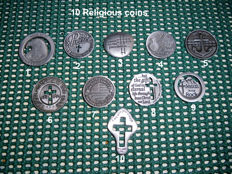 USA - Lot of 10 Religious token