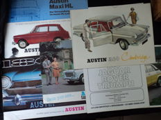 Austin / Rover - 8 brochures English cars, from the 60s and 70s
