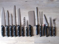 Vintage professional chefs knives collection
