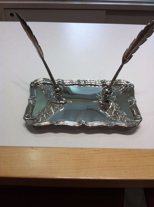 Silver inkstand - Pasgorcy S.A - Spain - 1990/1999