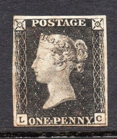 Great Britain Queen Victoria - 1d Black Plate 7, Stanley Gibbons 2