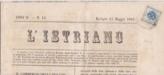 Austria 1858/59 - two newspapers with tax stamps