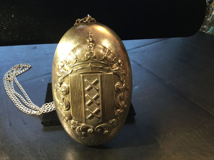Sterling silver pendant - Coat of Arms of Amsterdam