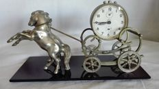 Carriage with horses and Kaiser alarm clock, 1940s/1950s