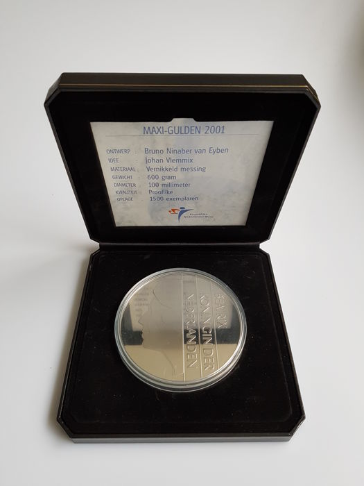 The Netherlands – maxi guilder 2001 (600 grams).