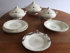 Rörstrand - Eleven pieces tableware set decor Blomster